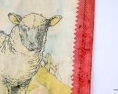 Vintage Farm Friends Childs Cloth Book