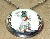 Artist SIGNED Red Bear Necklace Vintage in STERLING Silver