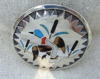 Navajo Sterling PENDANT Mallard DUCK  Handmade Artist SIGNED