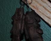 Wooden Fish Earrings 1