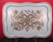 Large Vintage Metal Tray , Social Supper , Sale, now marked 8 dollars lower