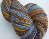 Handspun Yarn, Falkland Wool Hand Painted : Woven Blanket