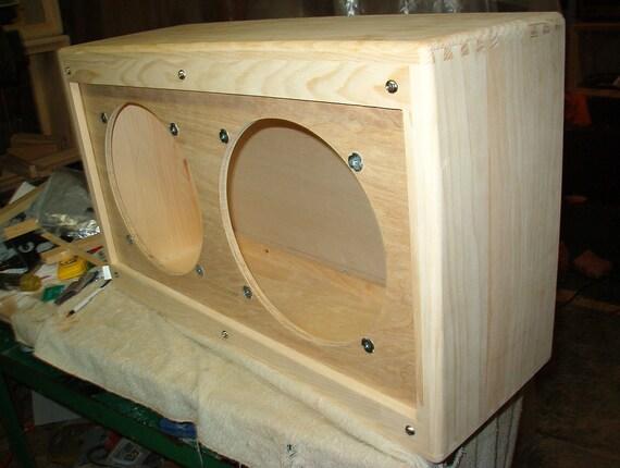 items similar to tweed style 212 guitar speaker cabinet diy project on etsy. Black Bedroom Furniture Sets. Home Design Ideas
