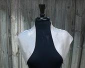 SAMPLE SALE Cropped Shrug - Jacket - Sleek Silk Shrug in Ivory - Bridal Accessory