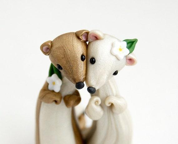 Weasel Wedding Cake Topper by Bonjour Poupette
