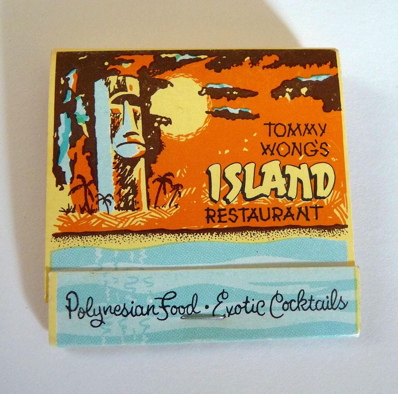 Vintage tiki bar matchbook tommy wong s island