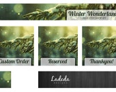 Shop Banners : Etsy Shop Banner Trees Premade Set - 5 Pieces - Banner, Avatar, Custom Order, Reserved & Thank You Matching
