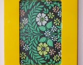 Rectangle picture frame painted in bright yellow shiny gloss