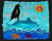 Alala riding a Dolphin