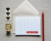 Portoni Collection / Happy Holidays - Set of 6 Letterpress Holiday Cards