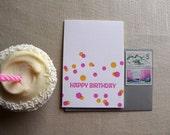 Happy Birthday Confetti - Set of 6 Letterpress Cards