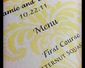 Custom Menus to Match Your Invitation Suite
