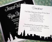 "Modern Silhouette Skyline Wedding Invitation Suite - ""The Stoneberg"""