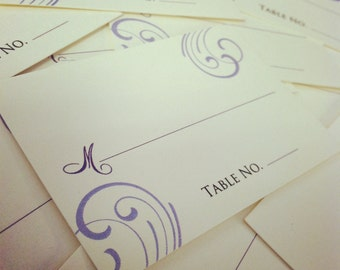 Custom Escort / Place Cards - flat or folded