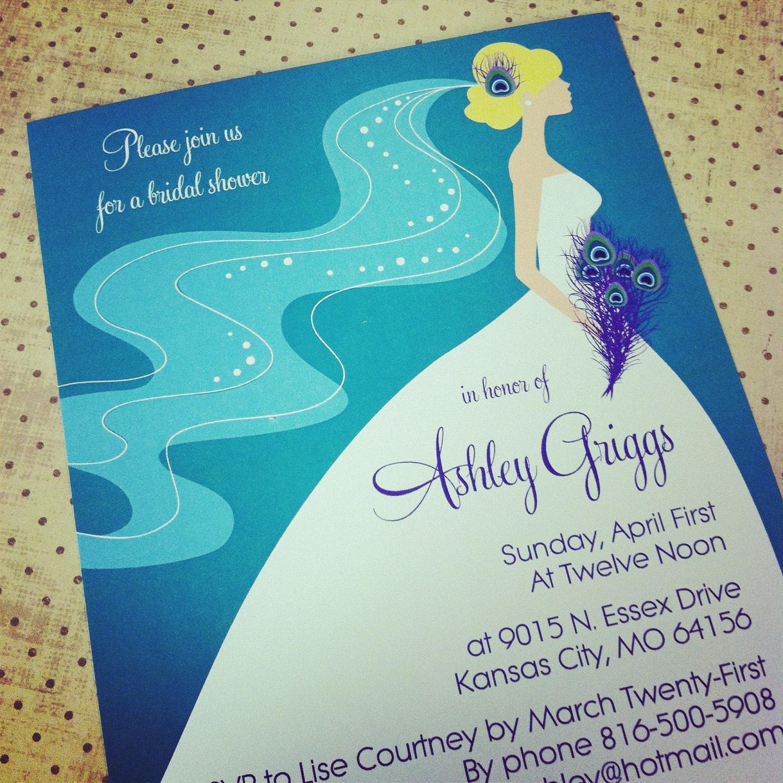 Peacock Bridal Shower / Bachelorette Party Invitation