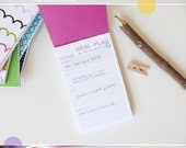 mini meal planner - booklet