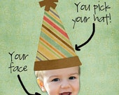 Birthday Party Hat Photo Customized and PRINTABLE