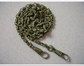 65cm antique bronze purse chain