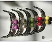 5pcs 5 inch red green yellow white purple beads purse frames bag handbag frame silver