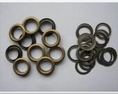 10mm (inside) antique bronze brass eyelets 60 sets grommet
