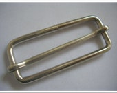5 PIECES, 2 inch,  Nickel Moveable Bar Slide,  Strap Adjuster Slider (purse making hardware) (purse making accessories)