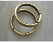 2pcs 1.5 inch (inner diameter) antique brass Round Gate Ring