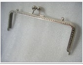 18cm rectangle purse metal frame kiss lock frame metal purse frame bag making supplies Nickel