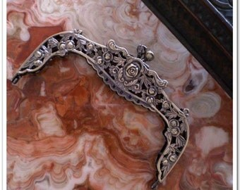 6.5 inch vintage alloy antique brass purse frame bag frame (without diamond)