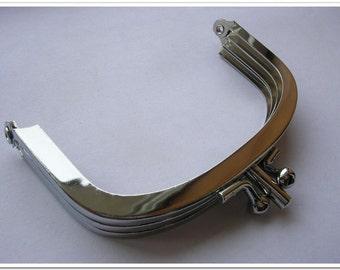 10pcs 9cm double coin purse frame Nickel color (purse making supplies)