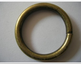 10pcs 1 inch(inside) antique bronze round rings  6mm thickness