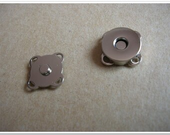 20sets 10mm,14mm,18mm Sewing Magnetic Snap Magnetic  purse Closure Magnetic purse Button silver