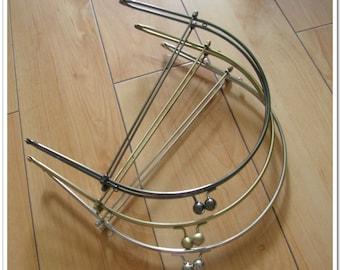 9 inch gunmetal half round metal purse frame purse making supplies