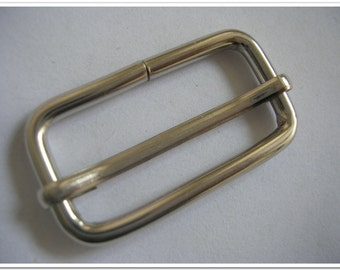 10 PIECES, 1.5 inch,  Nickel Moveable Bar Slide,  Strap Adjuster Slider purse making hardware purse making accessories purse supplies