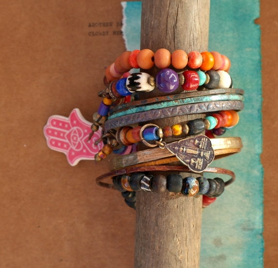 Summer Festival Stack Pack - Bangles and Beaded Bracelets