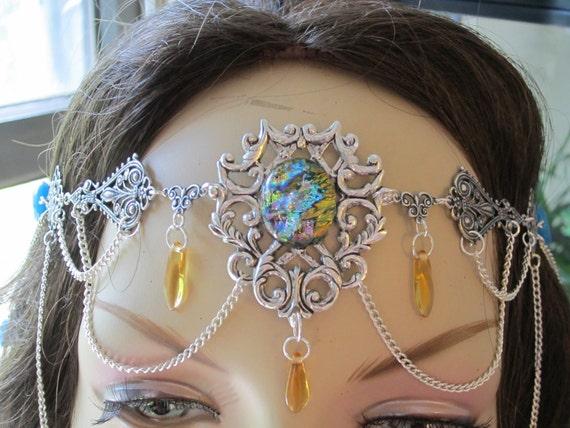 Circlet of the Summer Magics Elven Fairy Costume Cosplay Bridal Renaissance Vampire Druid Celtic