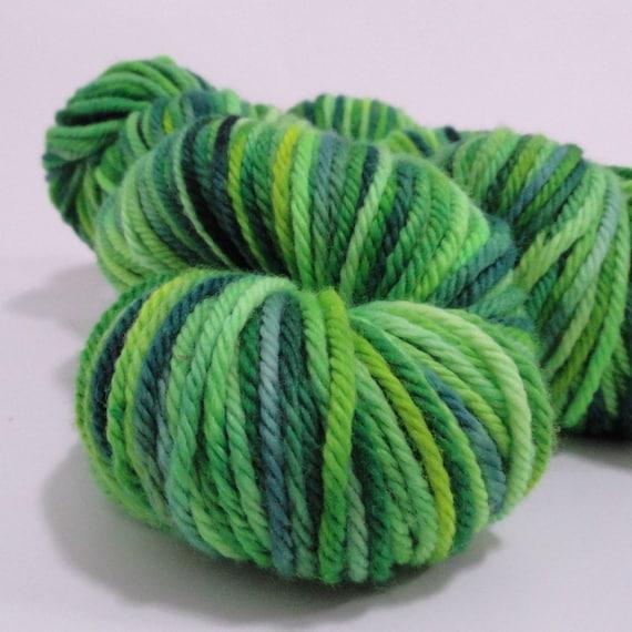 "CLEARANCE SALE, Hand Dyed Yarn, Organic Merino Yarn, Bulky Weight, Gaia Organic, 4oz, ""Lush"""