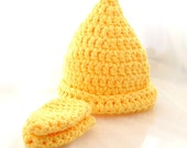 Lemon Gnome Hat and Scratch Mittens (6-12 months)