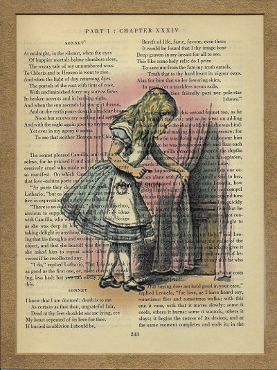 Alice In Wonderland Original Vintage Book Page Print Alice  Alice In Wonder...