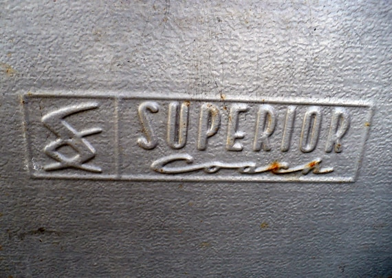 Large  Metal  Sign Superior -- Industrial  Magnet Photo Message Board Recycled Repurposed
