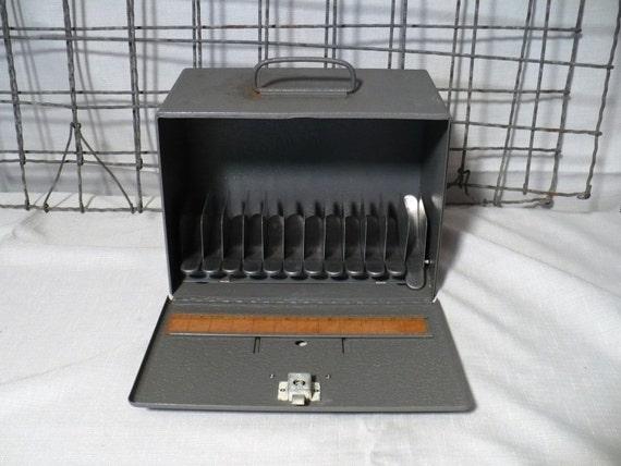 Unusual   Industrial Film  Reel Case FIle Box by  Brumberger New York