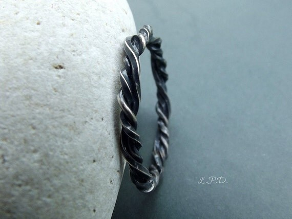 Sterling Silver Braided Ring. Size 7.25.