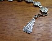 Vintage Paris France Souvenir Bracelet. Silver Plated.