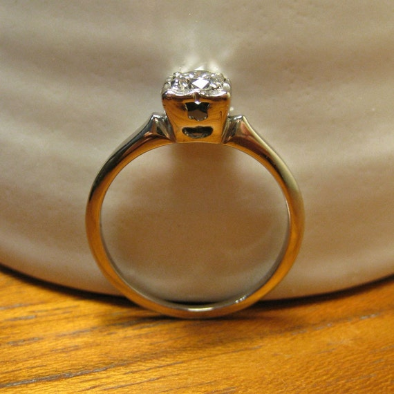 Reserved Vintage Diamond Engagement Ring Orange Blossom