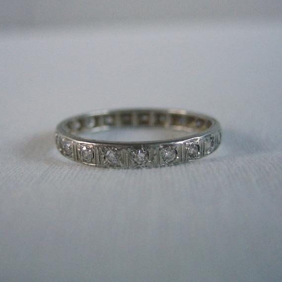Art Deco Diamond Eternity Band. Wedding Ring. Circa 1920s.