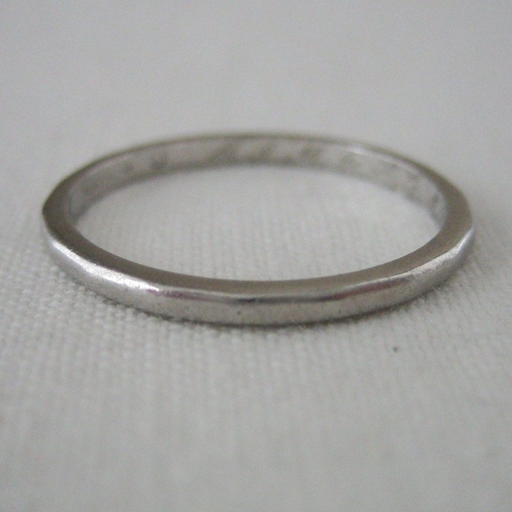 vintage platinum wedding band sale vintage wedding band Vintage Platinum Wedding Band SALE zoom