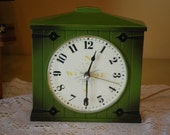 Vintage Avocado Westclox Electric Wall Clock