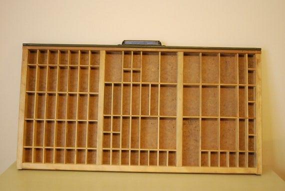 Antique Hamilton (Baltimore) Type Set Drawer, Fantastic Shadow Box