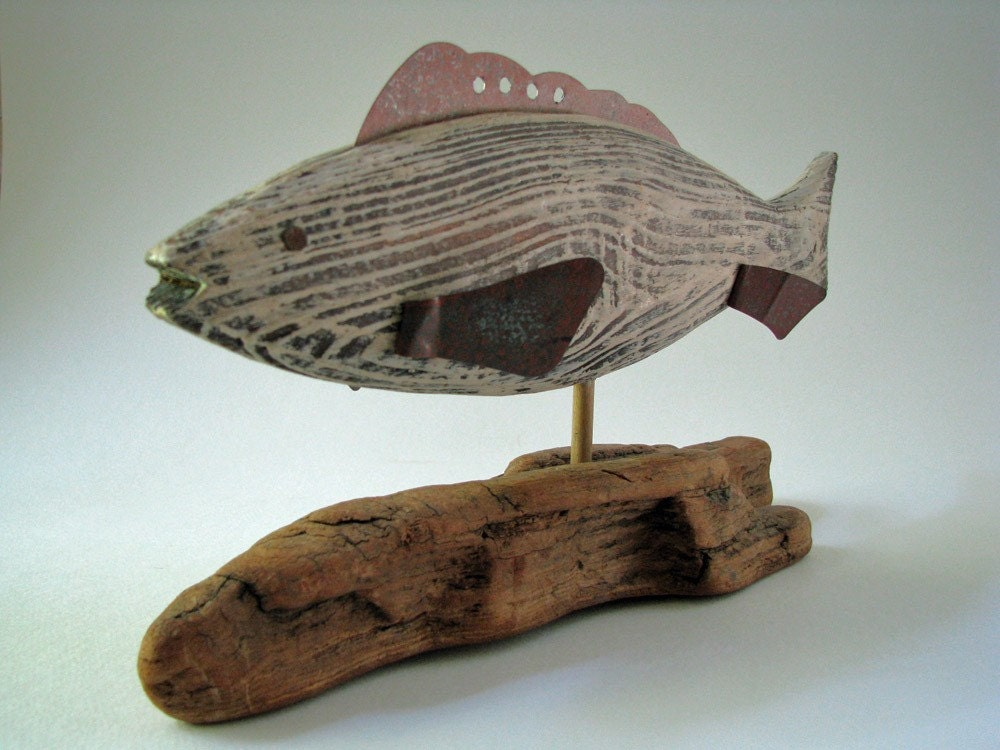 Primitive wood fish carving for Fish wood carving