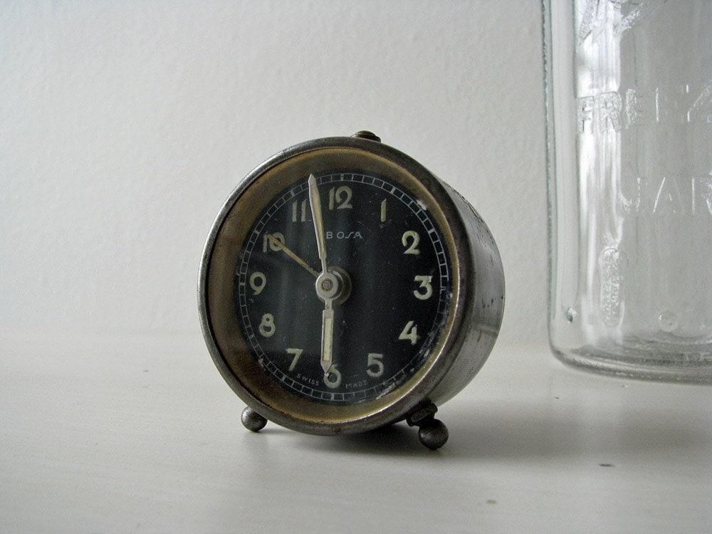 Vintage ebosa swiss-made mini clock