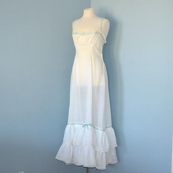 Victorian Nightgown Beautiful Vintage 1910 Era Semi Sheer